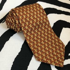 90s Brooks Brothers Tie Silk Necktie Acorn Animal
